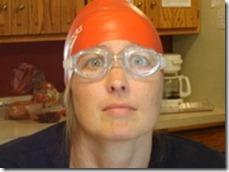 woman in swim cap