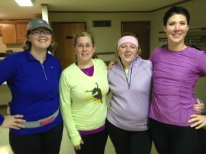 Runners of Greater St. Joseph Co - Sara Chris Melissa and Mel