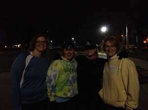 Night run, Runners of Greater St. Joseph Co. - Sara, Melissa, Ann and Cindy