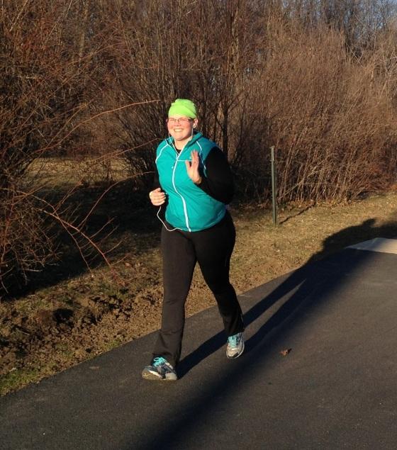 Sara During 10 Mile Run