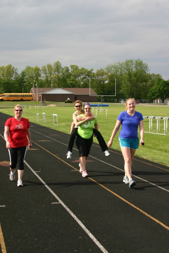 Running is so much fun with friends!